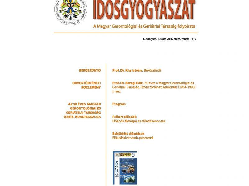 Idősgyógyászat folyóirat 1.évf. 1.szám